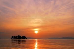 sunset, Shinji Lake, Matsue
